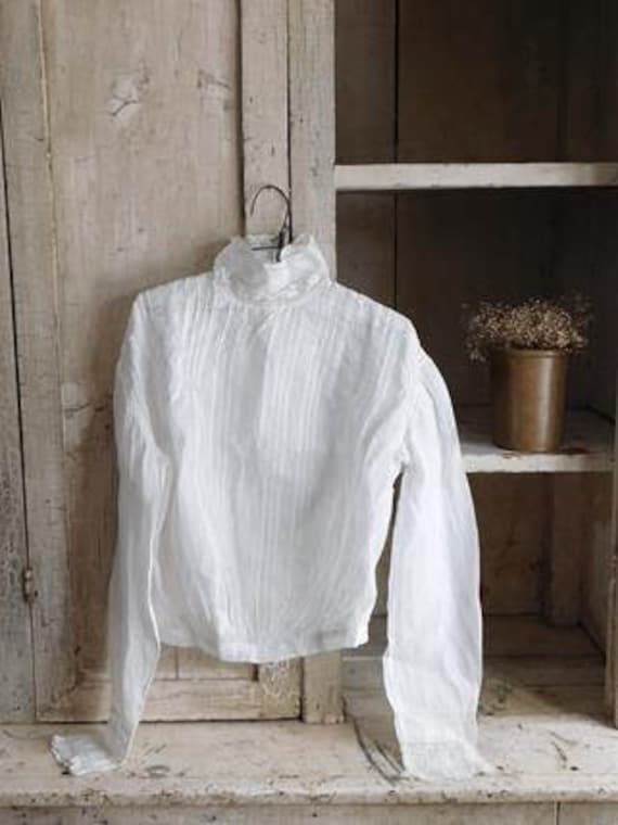 Antique Young Girls White Shirtwaist Blouse, Child
