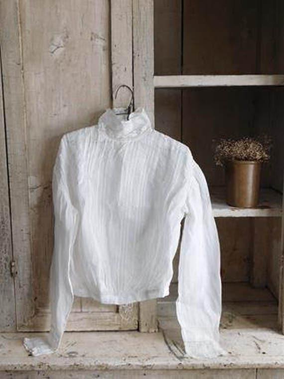 Antique Young Girls White Shirtwaist Blouse, Child