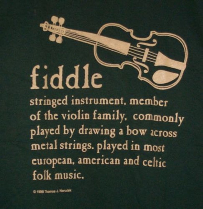 Fiddle Definition T Shirt hand screenprinted 100% Cotton image 0