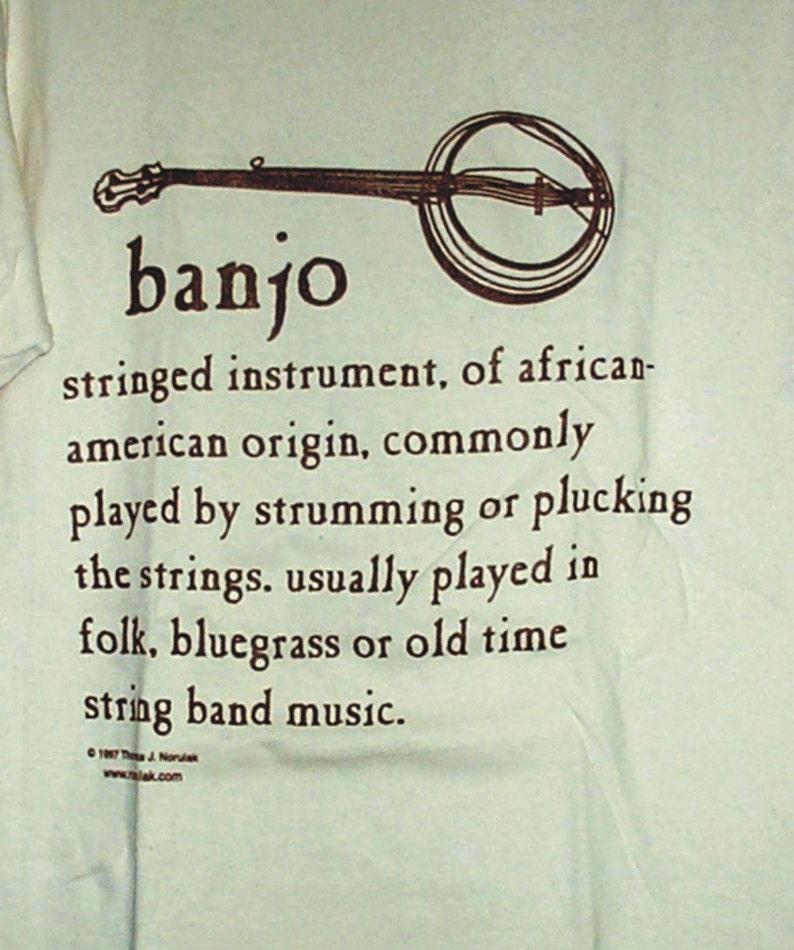Hand Screenprinted Banjo Definition T-Shirt image 0