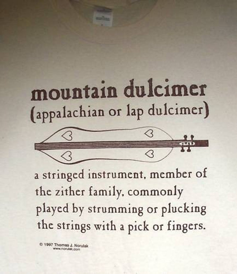 Hand Screenprinted Mountain Dulcimer Definition T-Shirt image 0