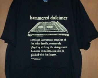 Hammered Dulcimer Definition T-Shirt XL beige on black