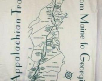 Hand screenprinted Appalachian Trail Map T-shirt