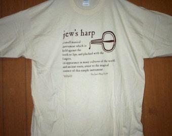 Hand Screenprinted Jews Harp Definition T-Shirt