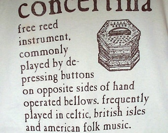 Concertina Definition T-Shirt hand screenprinted