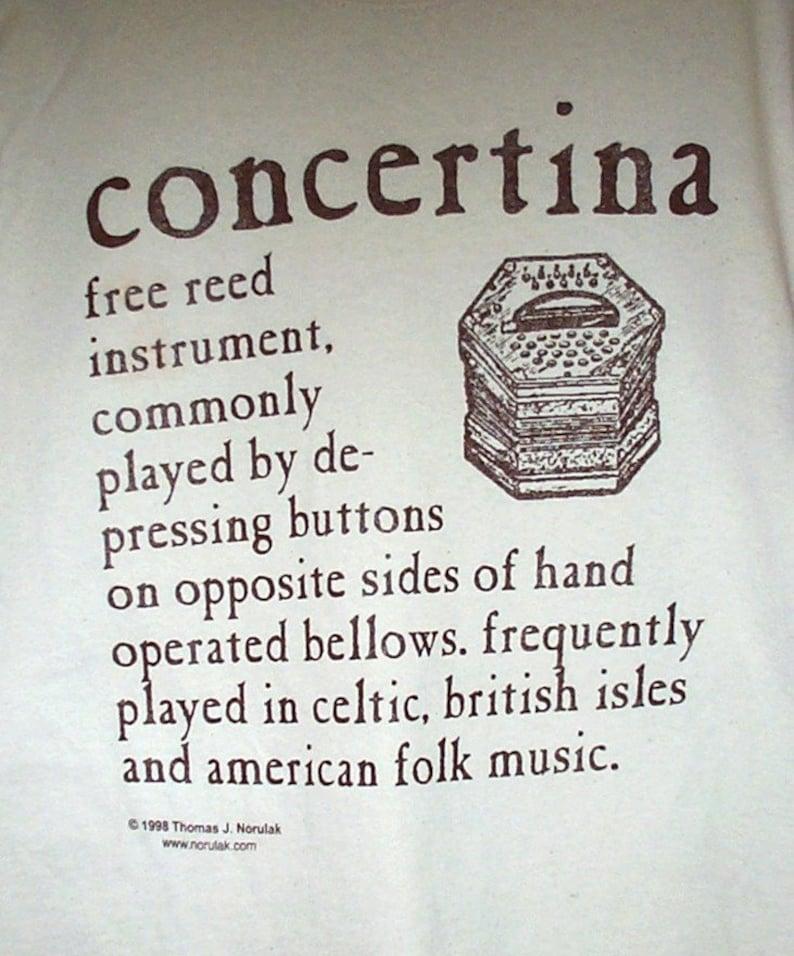 Concertina Definition T-Shirt hand screenprinted image 0