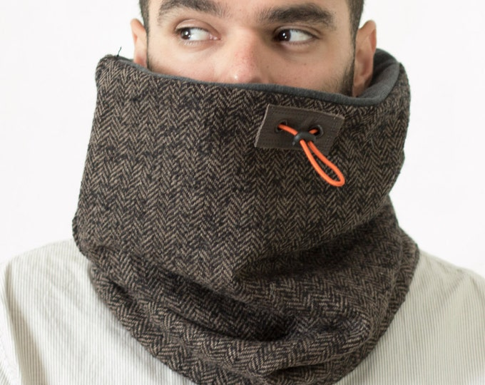 men's cowl, accessories, mens accessories, scarf, gift for him, gift men