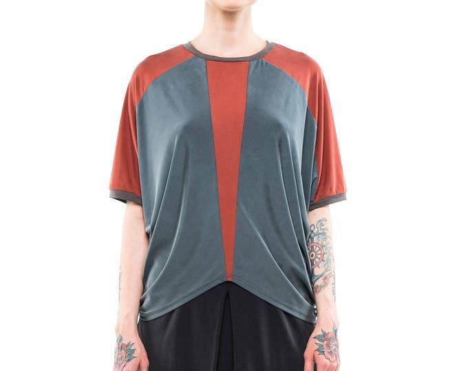 Geometric women's shirt, blouse, summer top, blouse for women