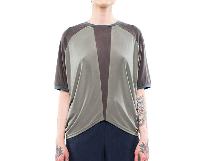 minimalist top, casual top, geometric top, grey minimalist top, symmetrical top