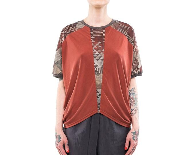 draped summer top, women shirt, oversized shirt, oversized womens top, loose top