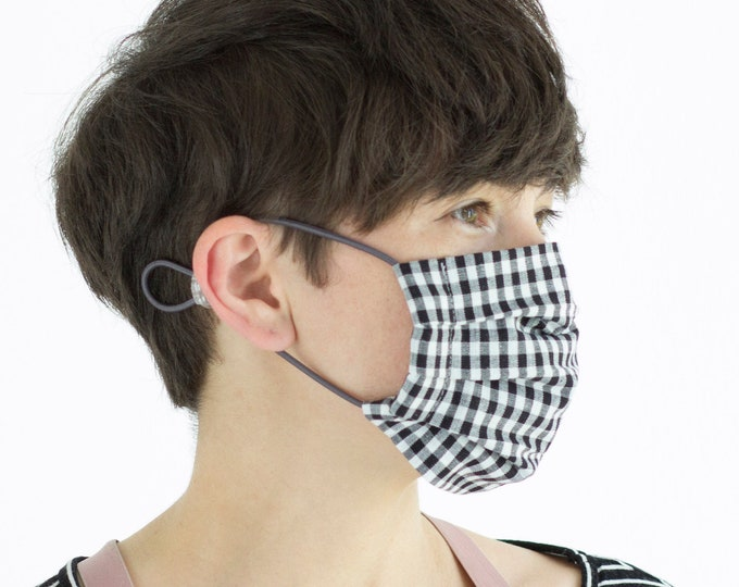 Mouth and nose guard with HEPA filter, protective mask, reusable mask, cotton mask