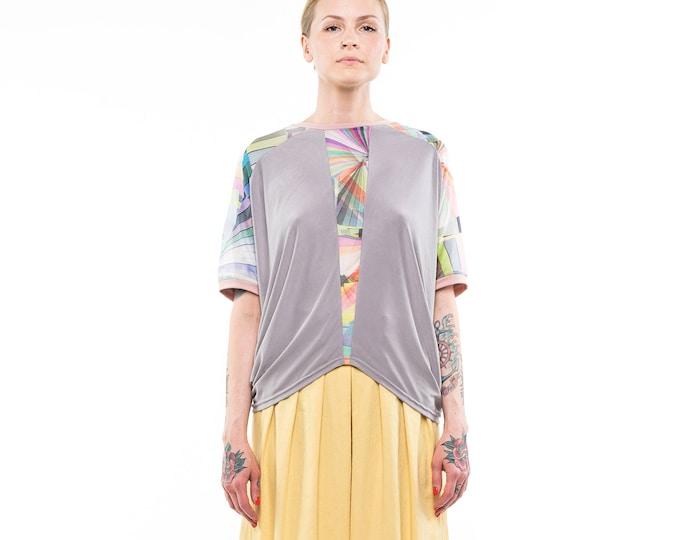 Loose top, women clothing, draped top, minimalist clothing women