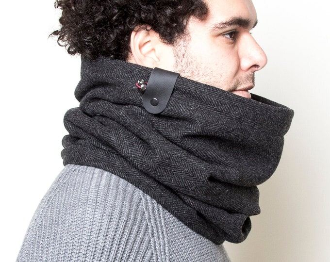 Father gift, mens gift, gift for dad, cowl scarf, scarf men, wool neck warmer