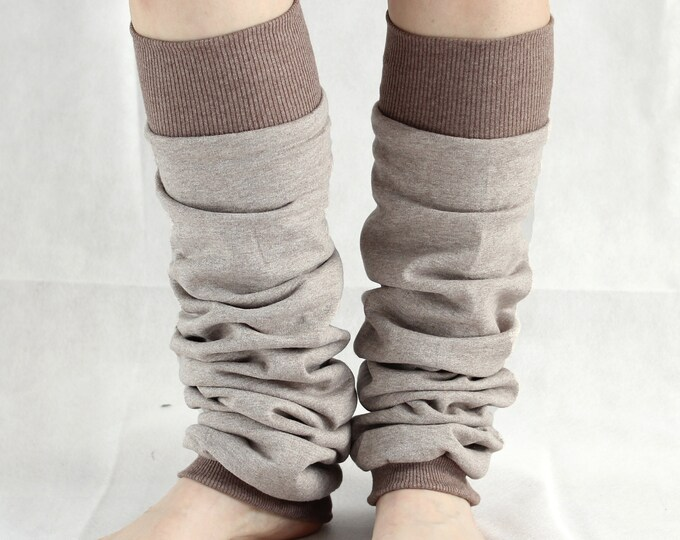Cotton Dancer or Yoga leg warmers or yoga socks