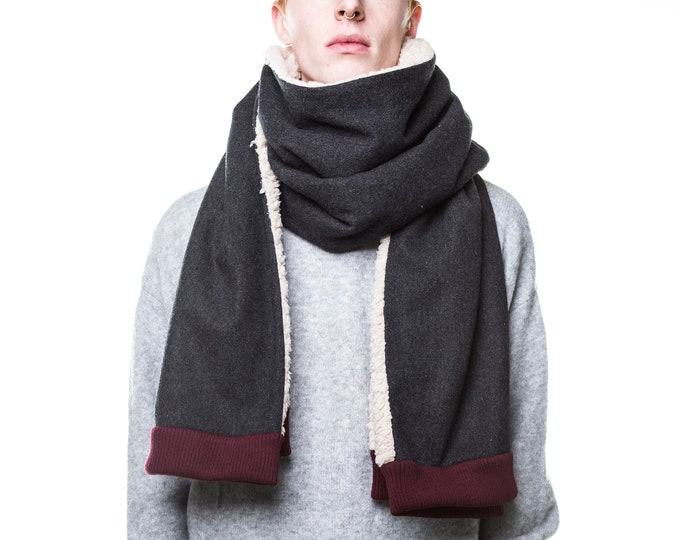 mens blarf unisex blanket scarf XXL winter scarf winter shawl mens poncho scarf