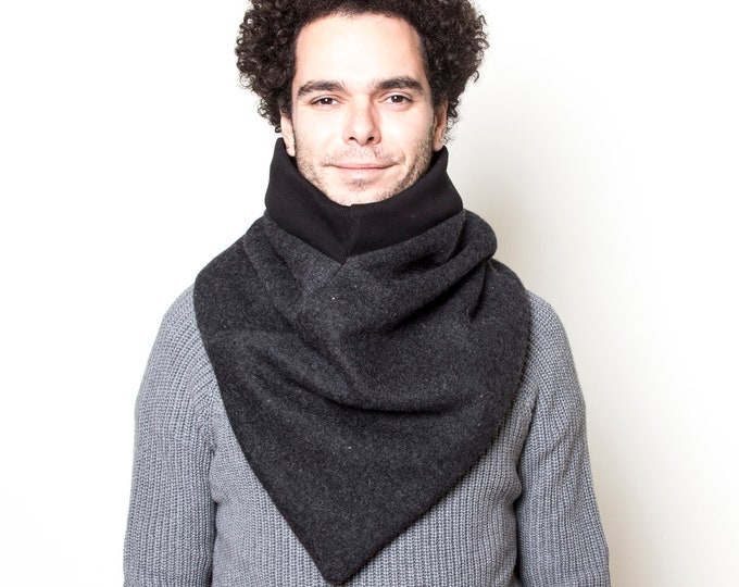 Modern Triangle Scarf, Warm Cowl Scarf, Winter Scarf, Urban Outfits, Cozy Wool Scarf, Women's Scarves, Men's Scarves, Christmas Gift