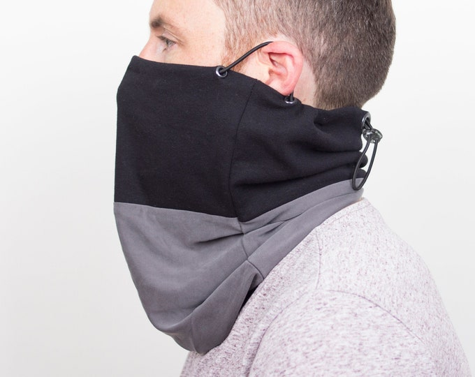 Cowl scarf mask or face covering