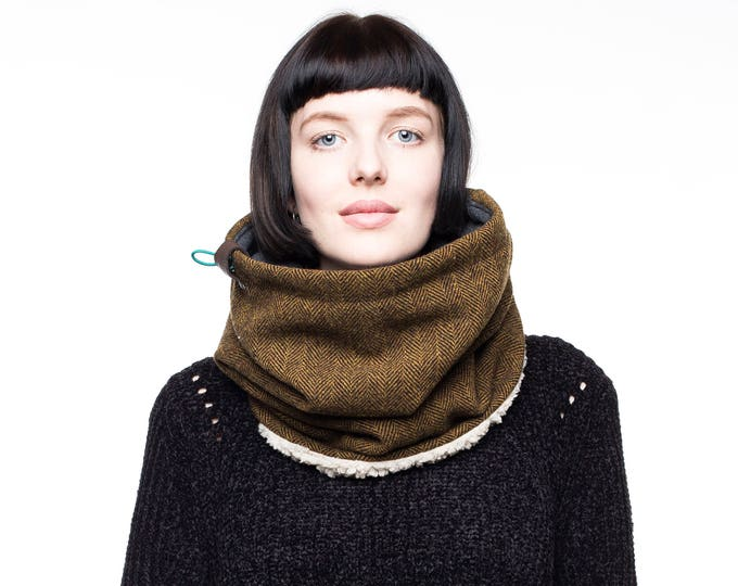 pure wool cowl scarf tweed scarf tweed cowl womens cowl mens scarf