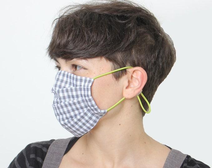 Cotton cloth face mask, mouth cover, makeshift mask with HEPA filter, protection mask
