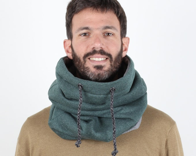 Hoody style extra slouchy cowl scarf or hooded cowl