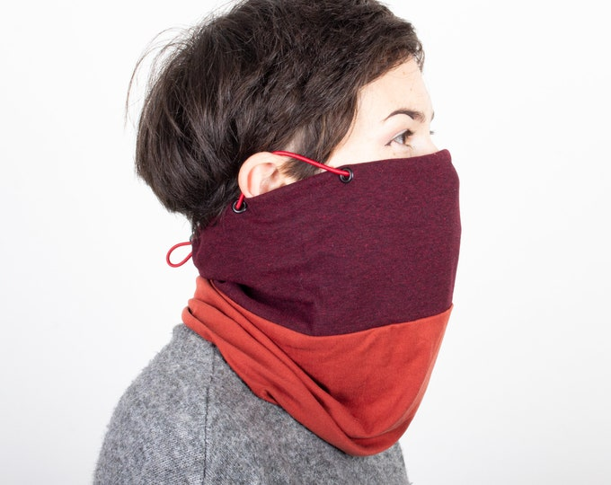 Unisex cowl mask or bikers cowl