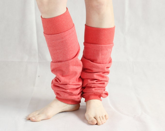 retro cotton leg warmers 100% cotton aerobics wear