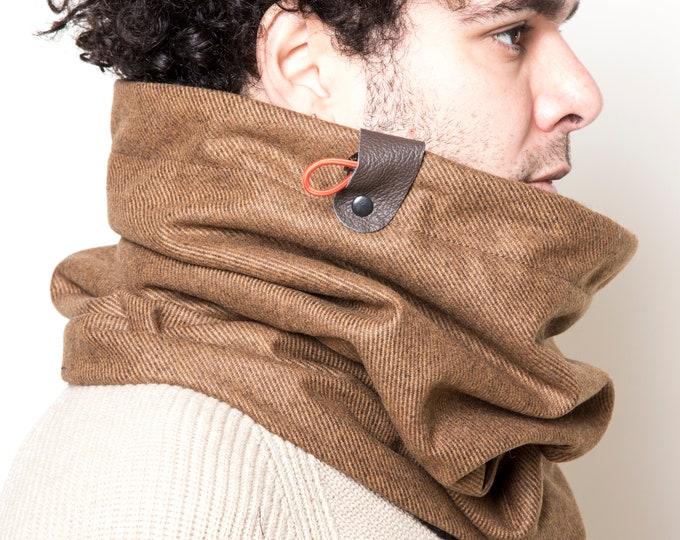 Handmade Scarf, Austrian Wool Scarf, Thick Scarf, Warm Cowl Scarf, Snood Scarf, Infinity Scarf, Christmas Gift, Unisex Scarf, Birthday Gift