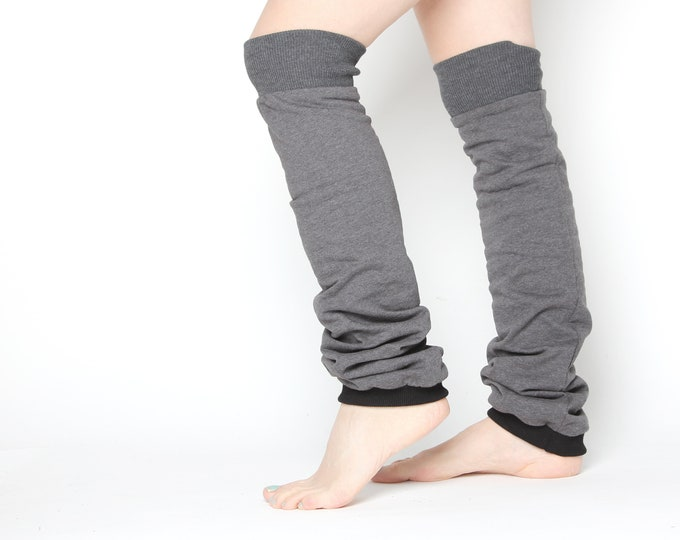 Extra long cotton leg warmers - vegan friendly