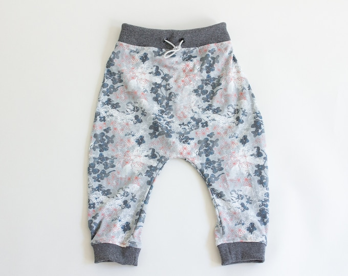Unisex baggy pants, Boy's drop crotch trousers, Girls harem pants