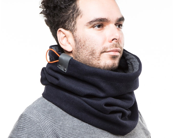 Gift for him winter, Christmas gift for men, Winter Accessory Ideas Men, Cowl Scarf