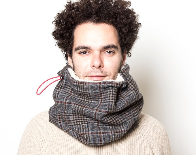 Urban Warm Scarf, Tweed Cowl Scarf, Thick Winter Scarf, Christmas Gift for Him, Gift for Her, Unisex Scarf, Winter Accessories, Gift Ideas