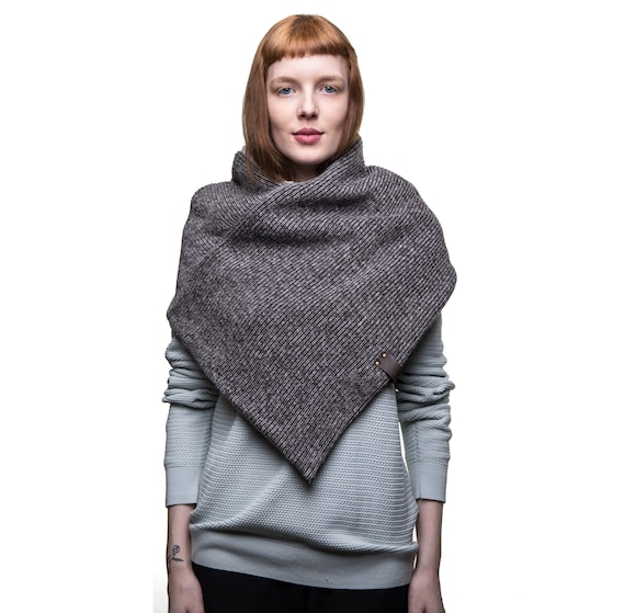 mens winter wool poncho poncho scarf men\'s triangle | Etsy