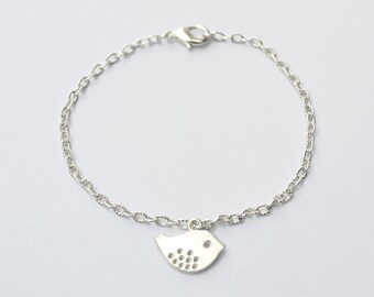 Mother's day gift for mother dainty bracelet silver bird bracelet friendship bracelet bridesmaids bracelet bangle bracelet charm bracelet