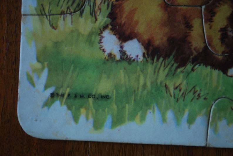 Ephemera hidden puzzle 1950/'s Nursery decor rabbits cat  puzzle vintage childrens jigsaw puzzle - C M Burd P and M Co
