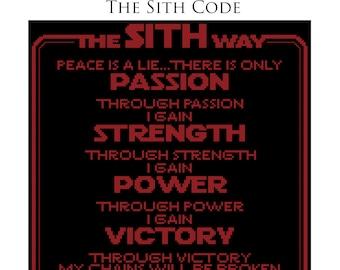 Sith Code Cross Stitch Pattern