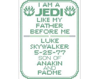 Jedi Birth Sampler
