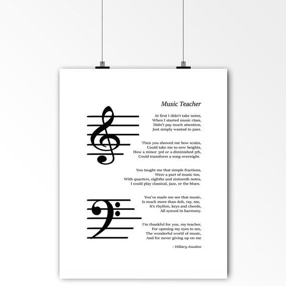 MUSIC TEACHER PIANO WORD ART GIFT PRESENT THANK YOU GIFT PRESENT POSTER PRINT