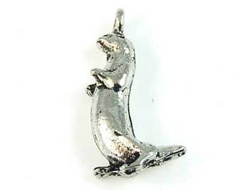 Otter Silver Pewter Charm -1