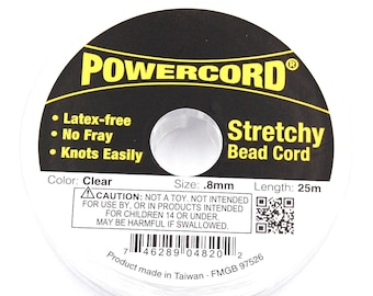 Stretch Cord .8MM Clear Elastic Power Cord Stretchy Bead Cord 25m/roll