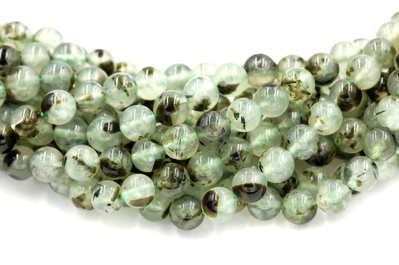 Moss Agate Natural Gemstone Round Beads 8mm Jewellery Making 47-50 Beads