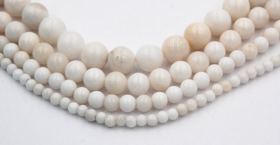 6mm WHITE // CREAM Glass Pearl Beads size 4mm 10mm 8mm 12mm