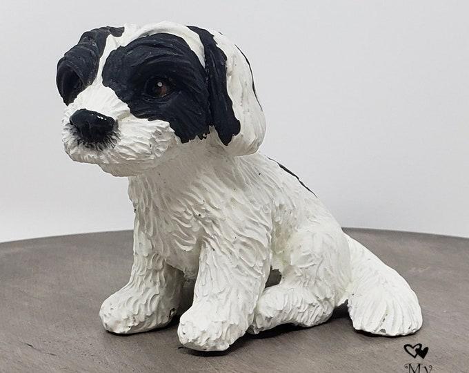 Dog Havanese Sculpture - Realistic Dog Figurine - Havanese Wedding Cake Topper