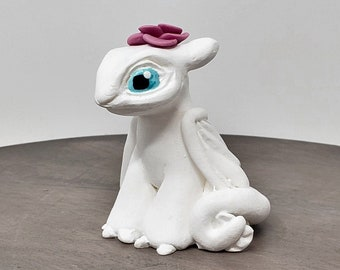 Lightfury Birthday Topper - Toothless Dragon Cake Topper Figurine - How to train your dragon Hollywood themed party