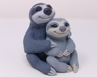 Sloth Wedding Cake Topper Bride and Groom - Animal Sculpture - Anniversary Gift - Traveller Wedding - Destination Wedding
