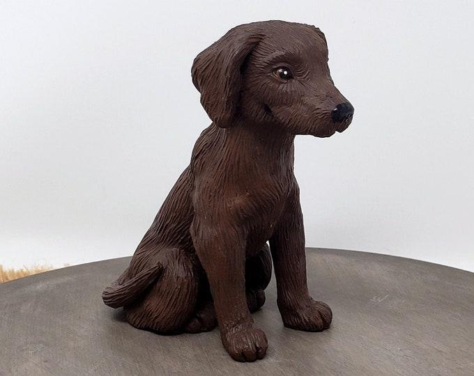 Dog Labrador Sculpture - Realistic Dog Figurine - Labrador Retriever Wedding Cake Topper