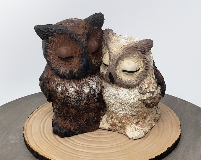 Great Horned Owl Wedding Cake Topper - Bird of Prey - Realistic Great Horned Owls Engagement present Wedding Centerpiece - Anniversary Gift