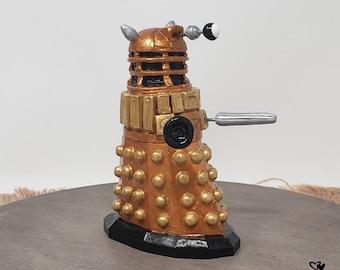 Dalek Cake Topper - Dr Who Wedding Cake Topper Figurine - Gold Robot - TV Show