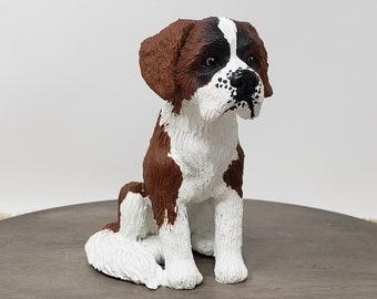 Saint Bernard Sculpture - Realistic Dog Figurine - Pet Portrait - K9 - St. Bernard Wedding Cake Topper