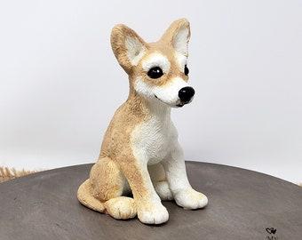 Chihuahua Sculpture - Realistic Dog Pet Portrait Figurine - Chihuahua Wedding Cake Topper