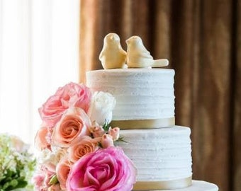 Bird Cake Topper - Love Birds Wedding Elegant Figurine - Pick Your Color